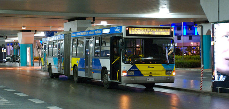 Bus services to and from Athens airport
